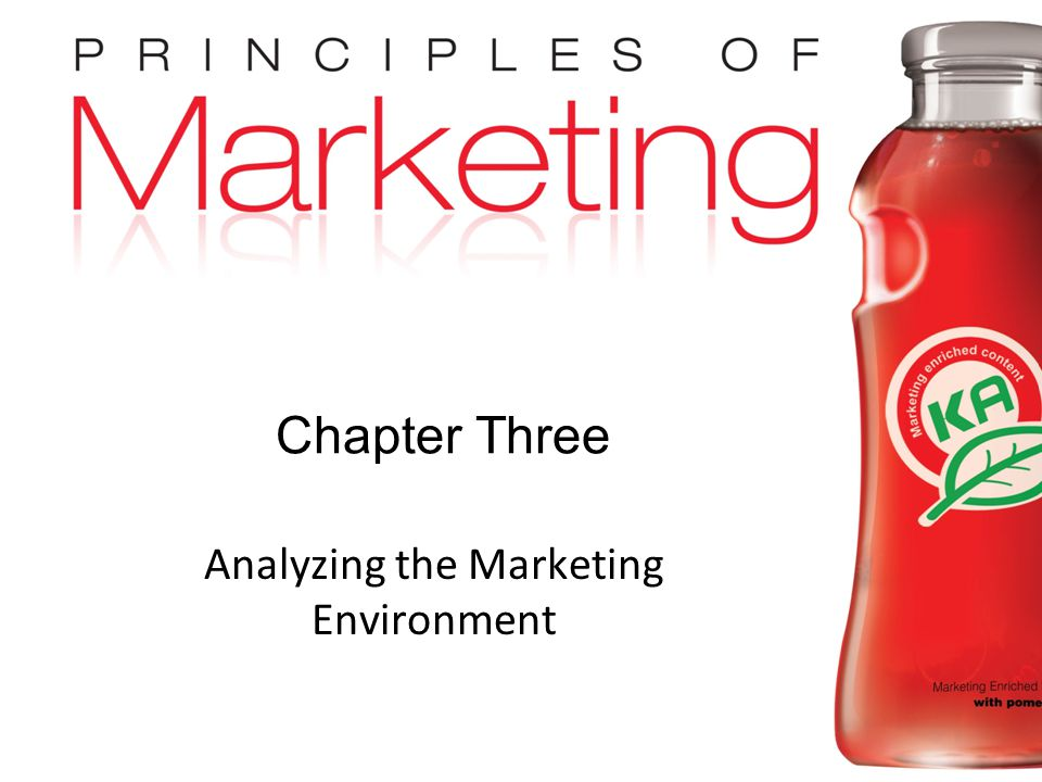 Chapter 3- slide 1 Copyright © 2009 Pearson Education, Inc. Publishing as Prentice Hall Chapter Three Analyzing the Marketing Environment