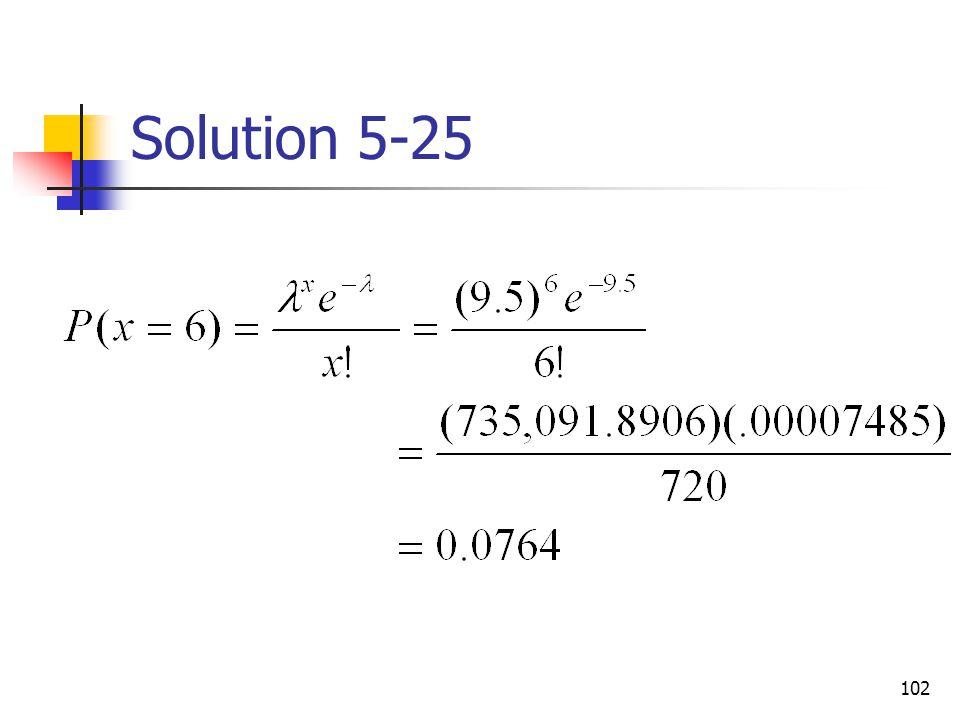 102 Solution 5-25