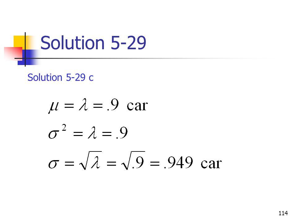 114 Solution 5-29 Solution 5-29 c