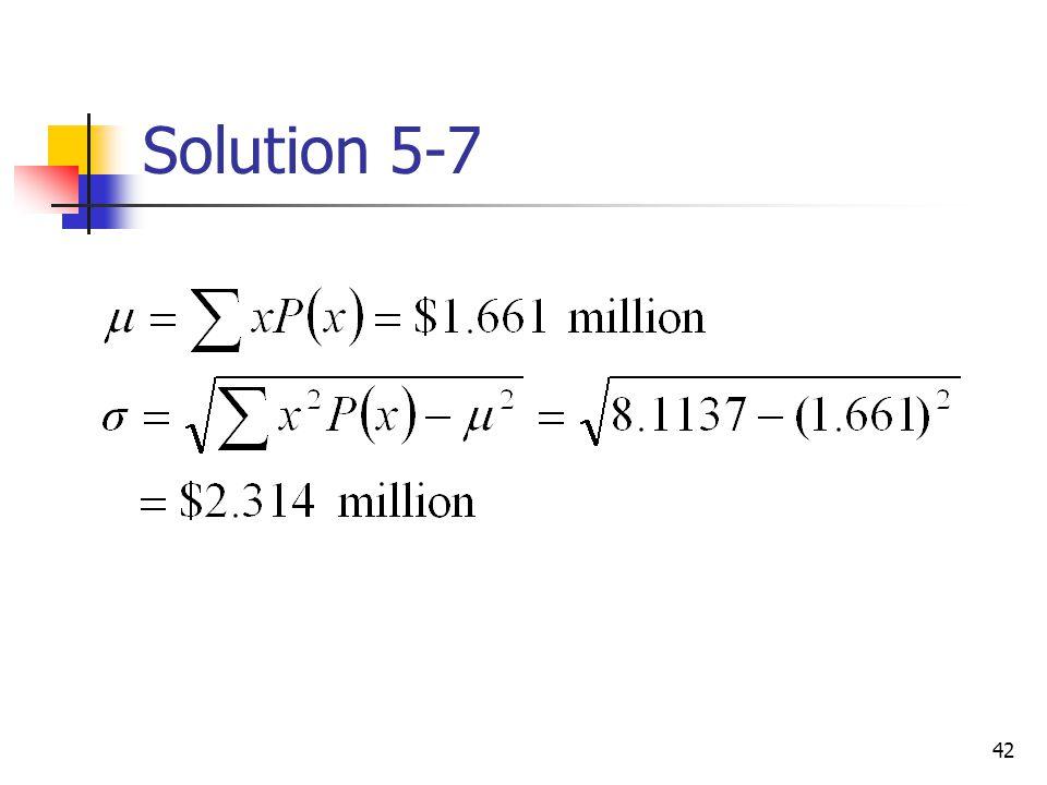 42 Solution 5-7
