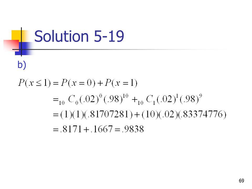 69 Solution 5-19 b)