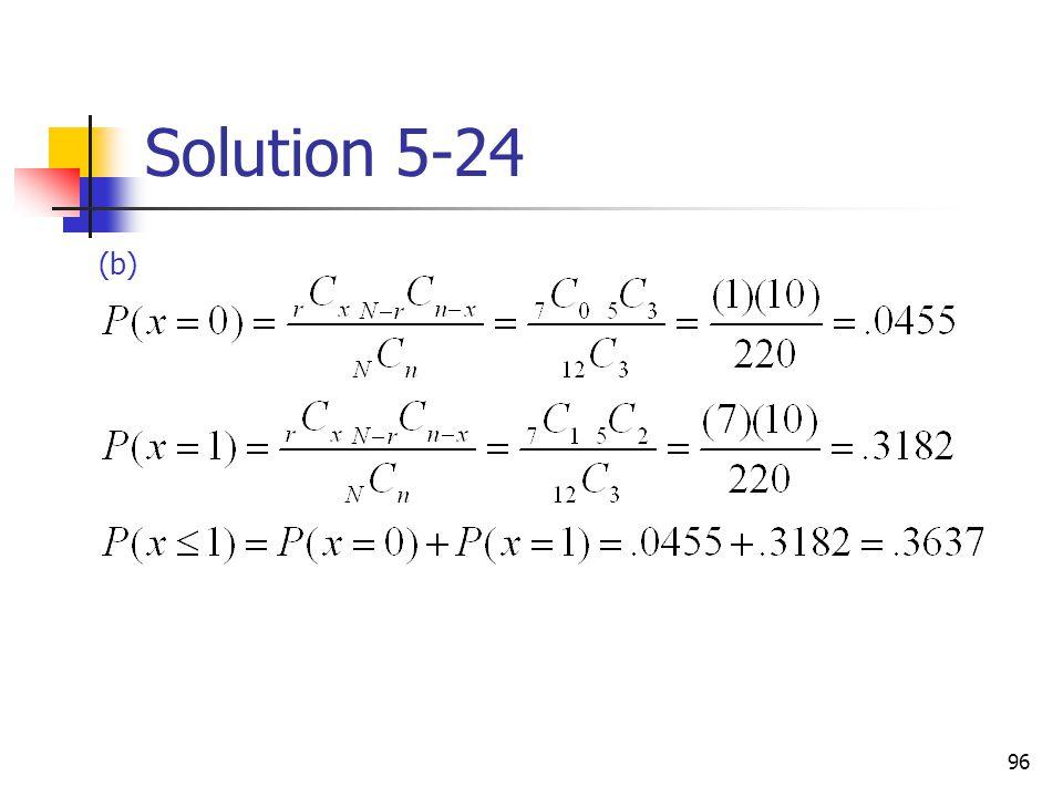 96 Solution 5-24 (b)