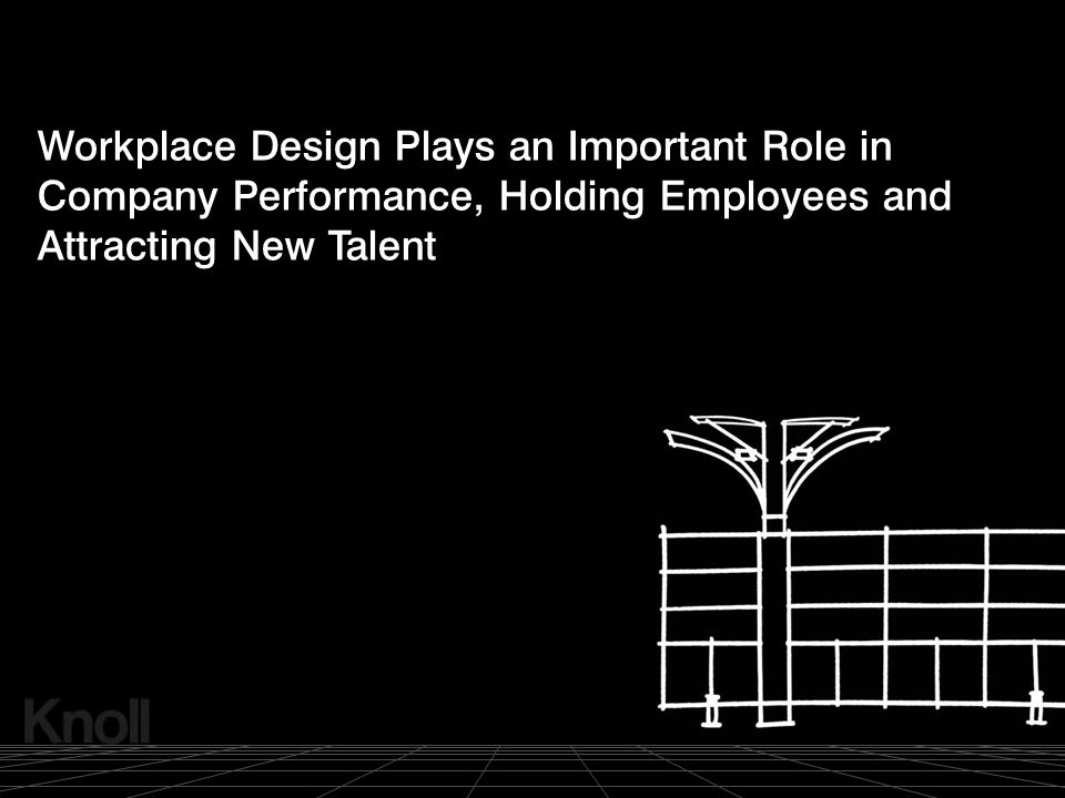 © 2000 Knoll, Inc. Workplace Design Plays an Important Role in Company Performance, Holding Employees and Attracting New Talent