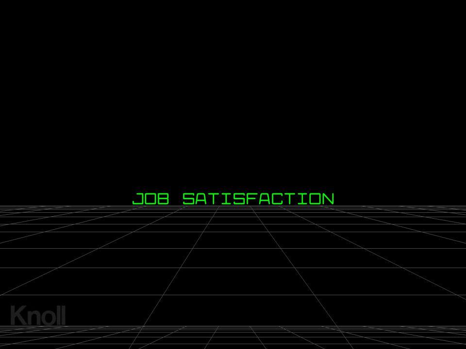© 2000 Knoll, Inc. JOB SATISFACTION