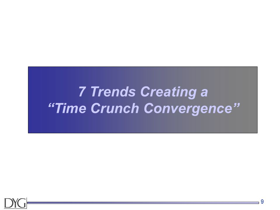 "9 7 Trends Creating a ""Time Crunch Convergence"""