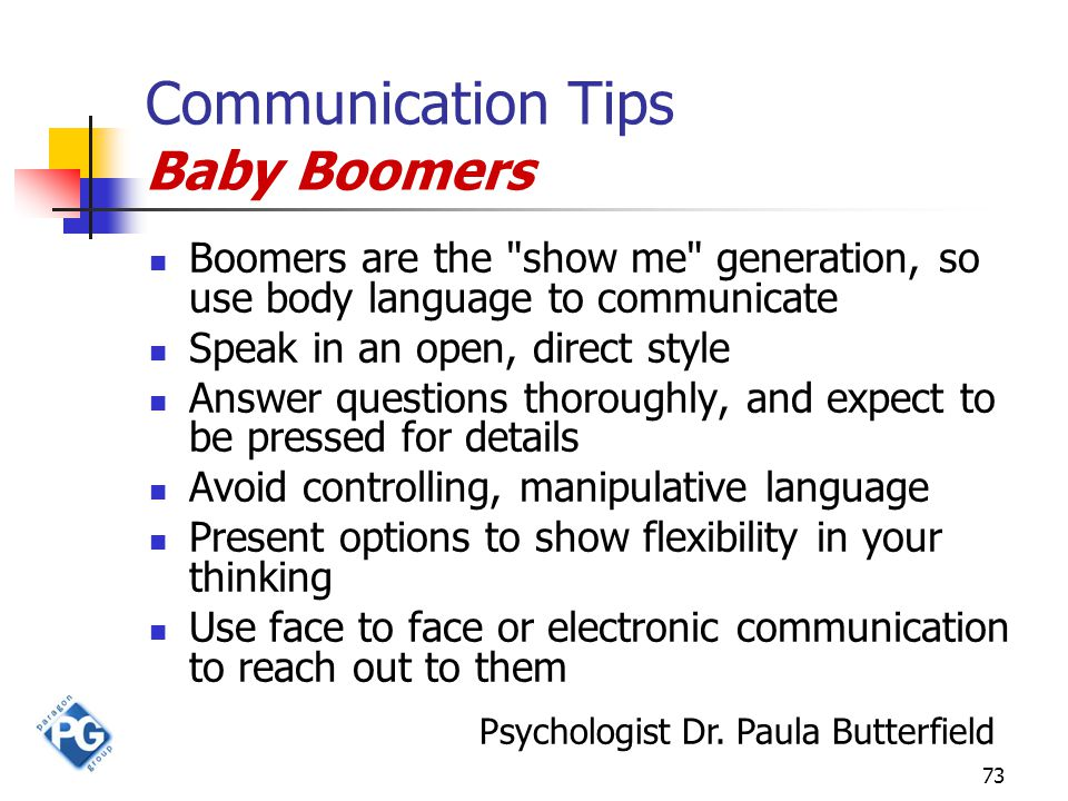 73 Communication Tips Baby Boomers Boomers are the