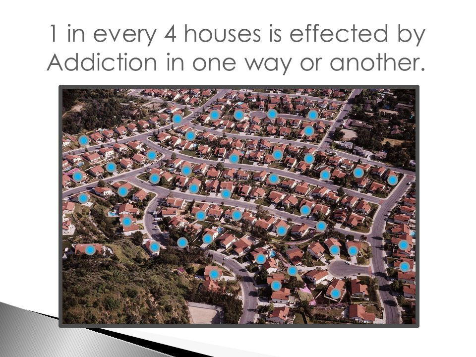 1 in every 4 houses is effected by Addiction in one way or another.