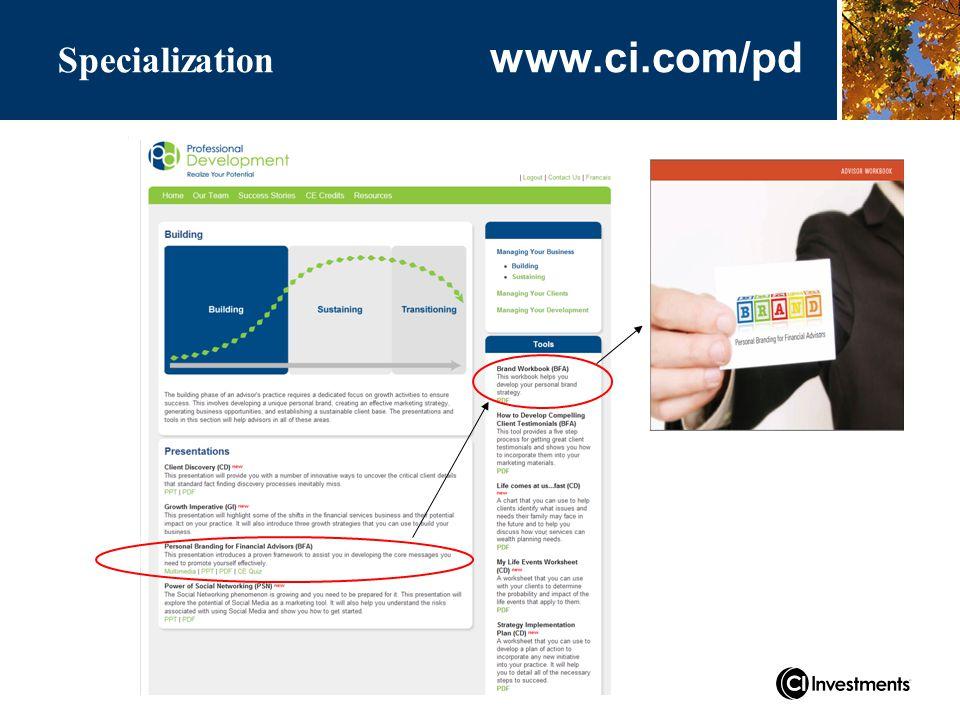 www.ci.com/pd Specialization