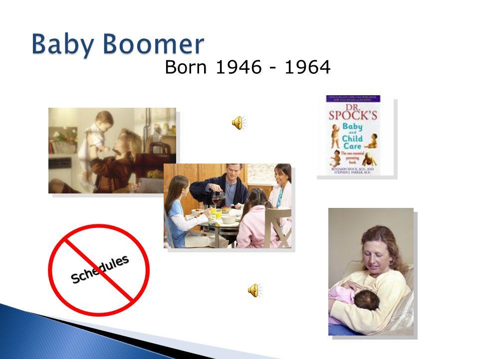 Baby Boomer Schedules Born 1946 - 1964