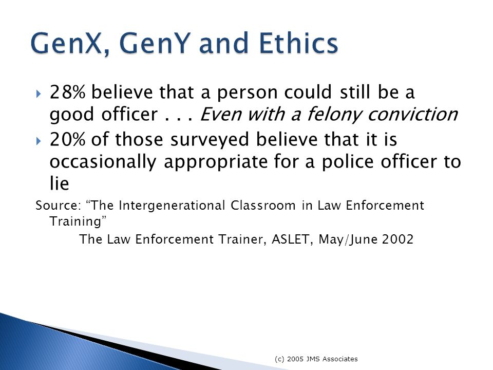  28% believe that a person could still be a good officer...