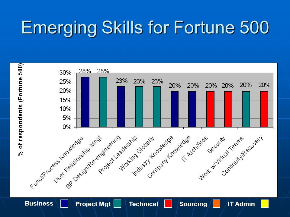 Emerging Skills for Fortune 500 Business Project MgtTechnicalSourcingIT Admin