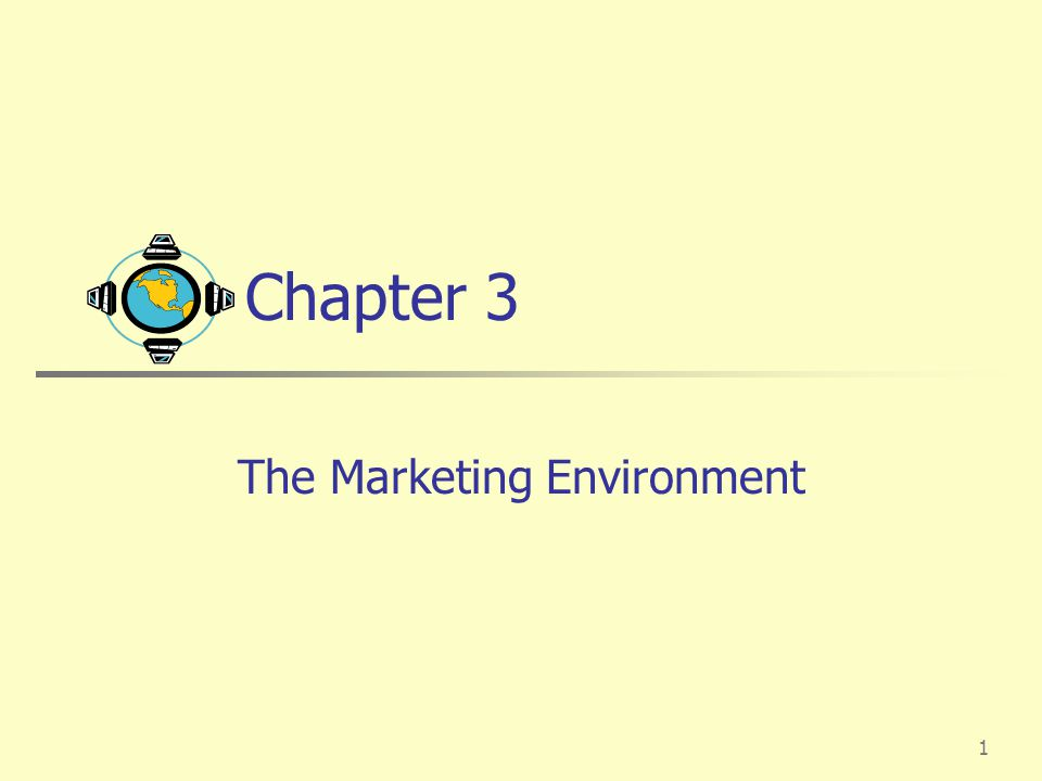1 Chapter 3 The Marketing Environment