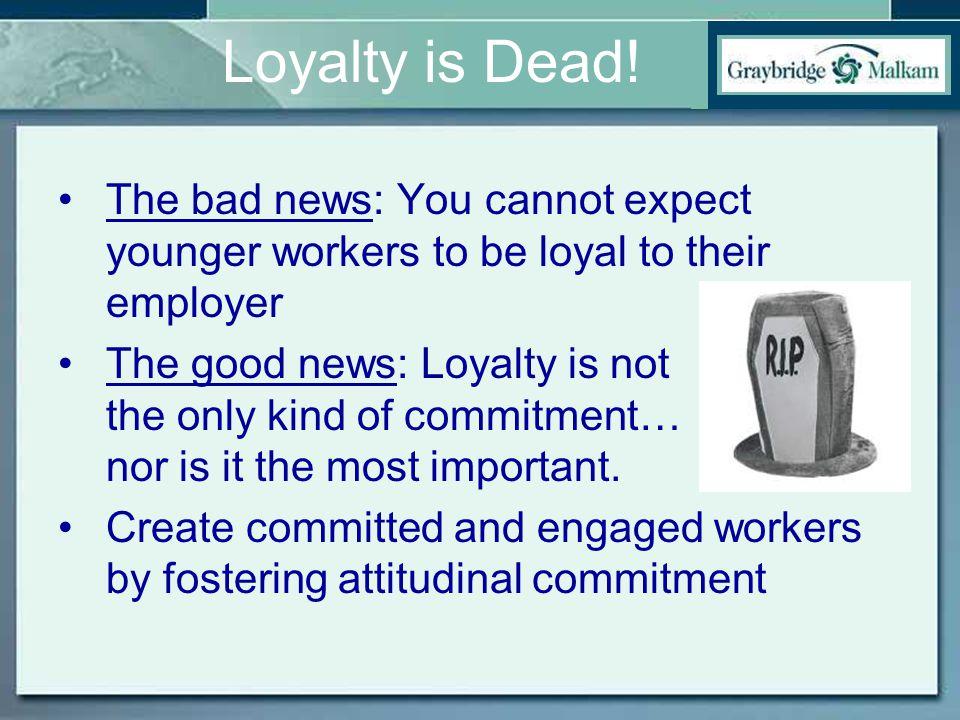 Loyalty is Dead.