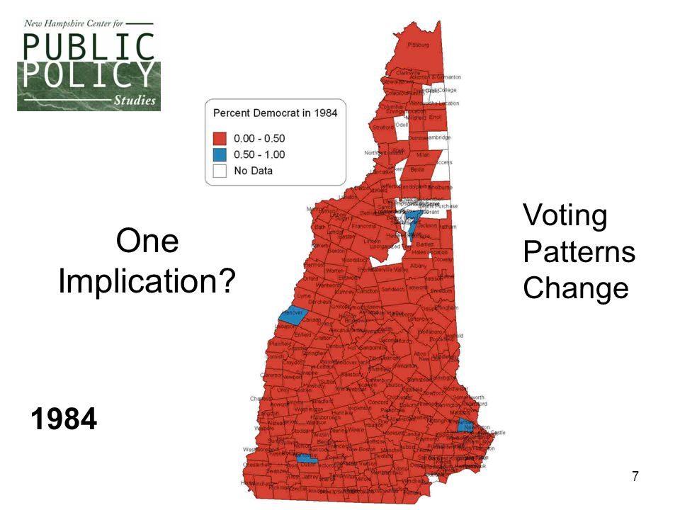 7 One Implication? Voting Patterns Change 1984
