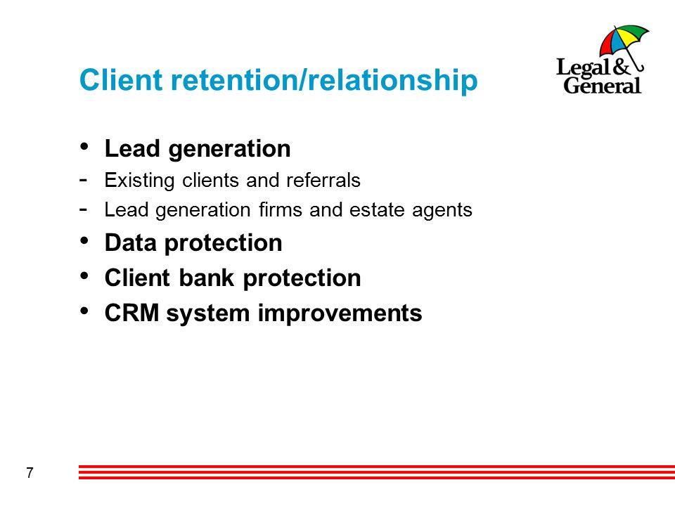 8 Lead generation Database MI Key Ratios USP's Client Bank Management Introducer Firms Compliance Advisers Lead Generation