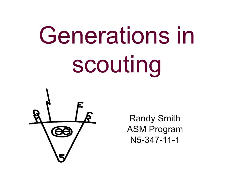 Generations in scouting Randy Smith ASM Program N5-347-11-1