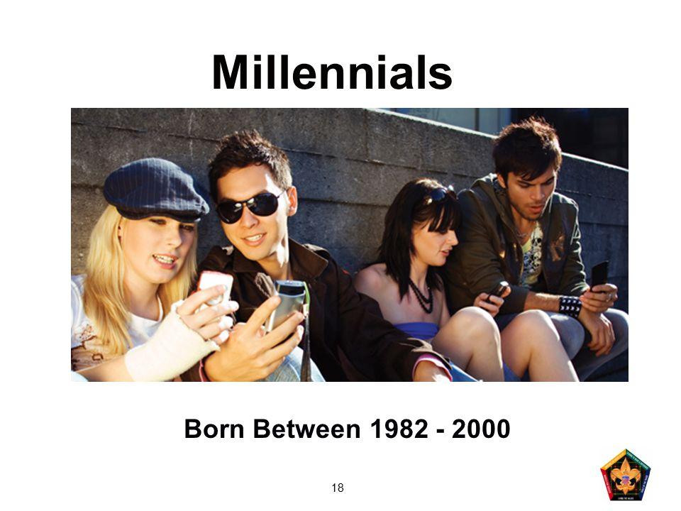 18 Millennials Born Between 1982 - 2000