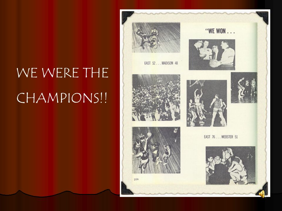 WE WERE THE CHAMPIONS!!