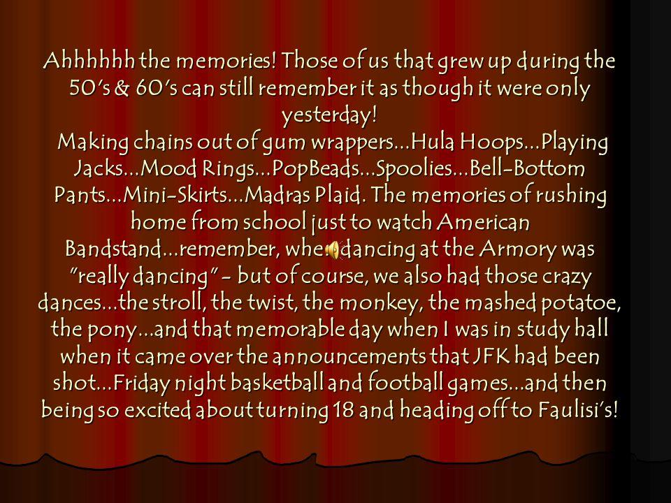 Ahhhhhh the memories.