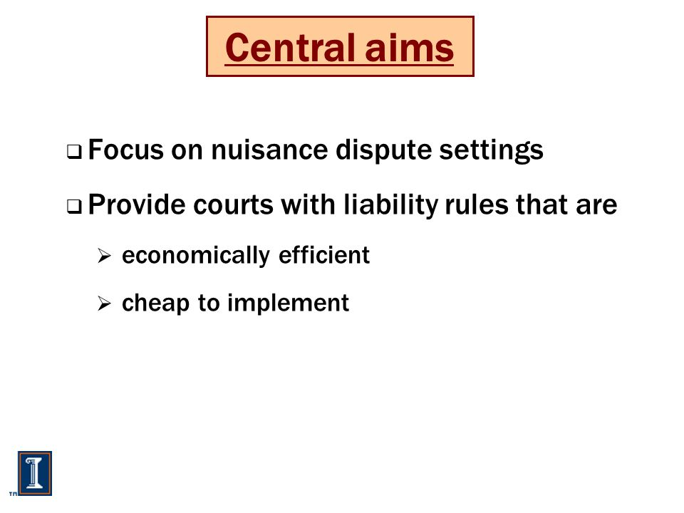Imperfectly informed courts: Liability rule One stage / Put flavour  The court could…  allocate asset to P  give put option to P  set damages  How would P respond.