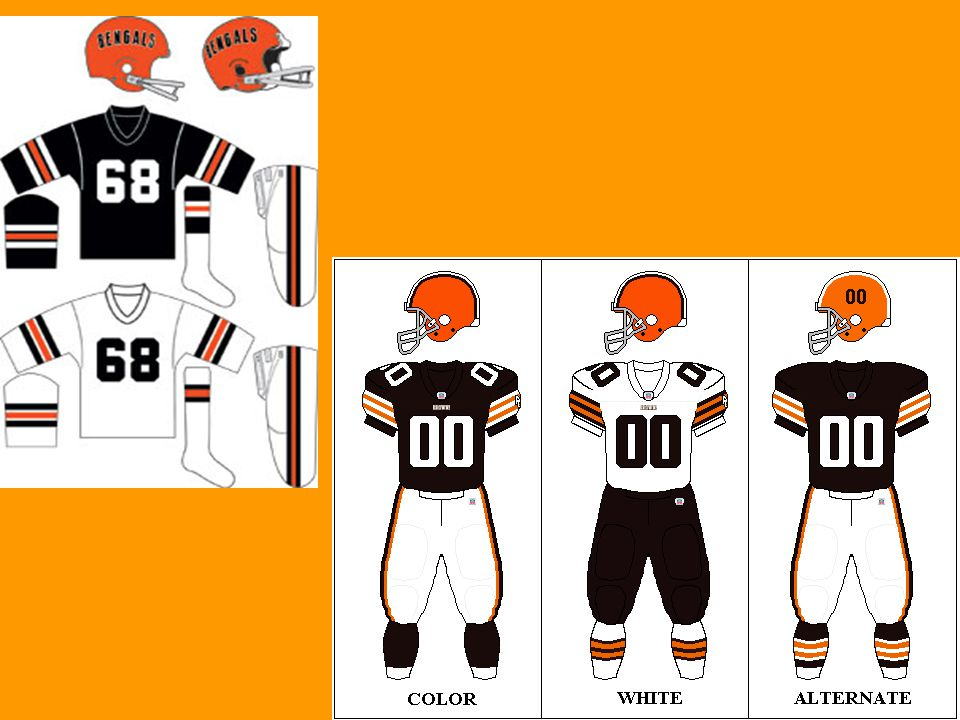 The Bengals showed off new uniforms during the 1981 season –The helmets had tiger stripes going across –Stripes were also featured on the jerseys and pants The team started the season winning 10 of the first 13 games