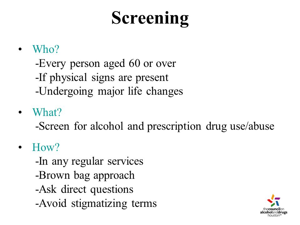 Screening Who.