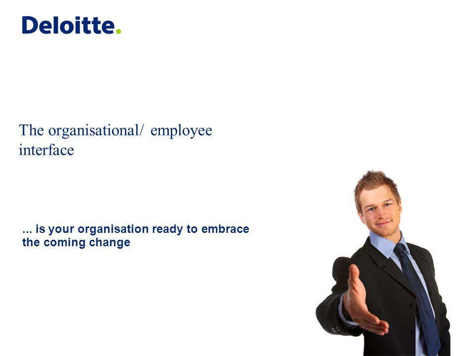 © 2008 Deloitte Touche Tohmatsu The organisational/ employee interface...