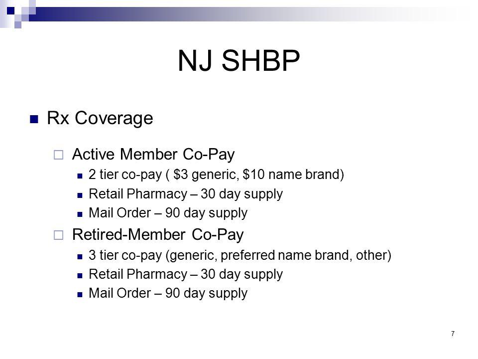 NJ SHBP Active Employee Dental Coverage Dental Expense Plan (Indemnity) 10 Dental Plan Organizations (DPO) BeneCareCommunity Dental CIGNA DentalGroup Dental Health HealthPlexFortis Benefits Dental Care Flagship DentalDental Group of NJ Horizon DentalAetna DMO 8