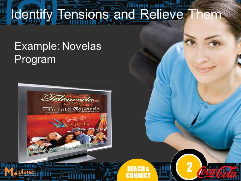 Identify Tensions and Relieve Them Example: Novelas Program 2 REACH & CONNECT