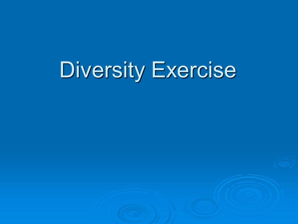 Diversity Exercise