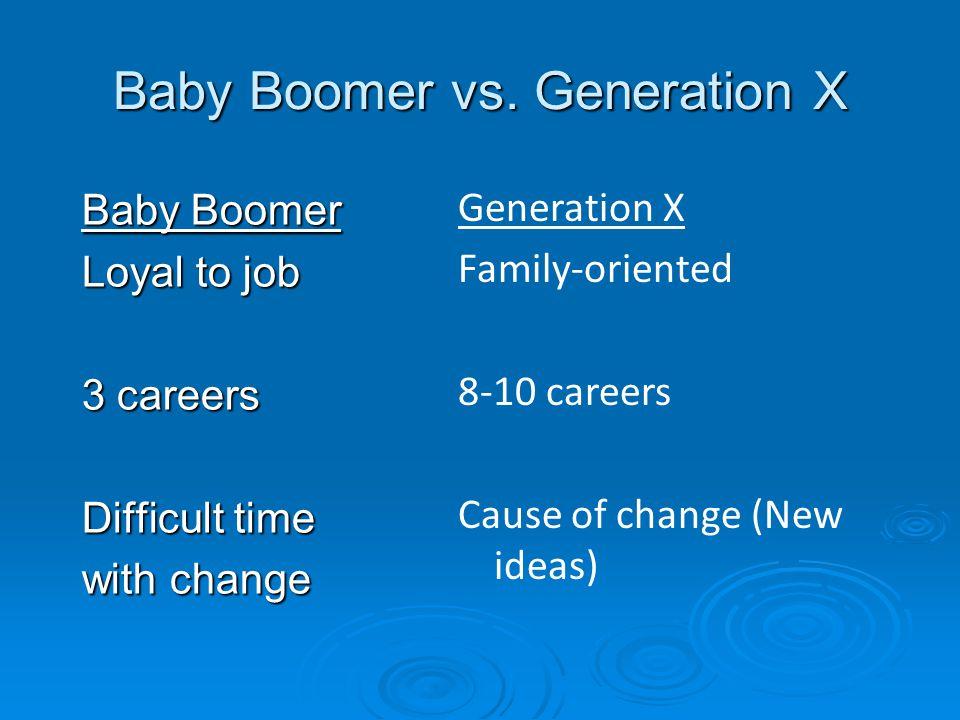 Baby Boomer vs.