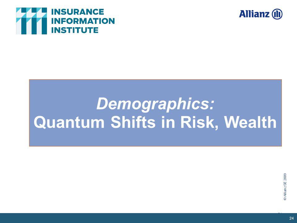 © Allianz SE 2009 24 Demographics: Quantum Shifts in Risk, Wealth