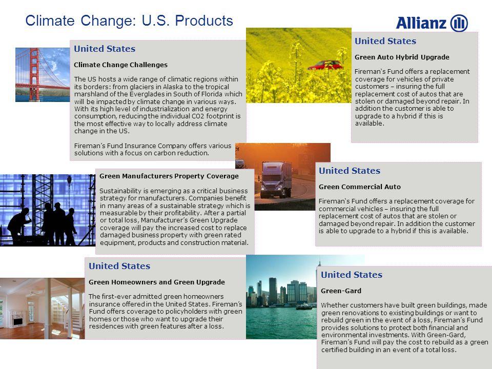 © Allianz SE 2009 38 Climate Change: U.S.