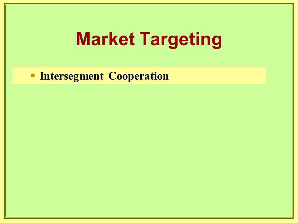  Intersegment Cooperation Market Targeting