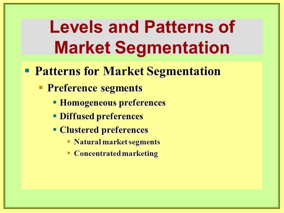Segmenting Consumer and Business Markets  Personality  Brand personality examples:  Sincere  Exciting  Competent  Sophisticated  Rugged  Values  Core values