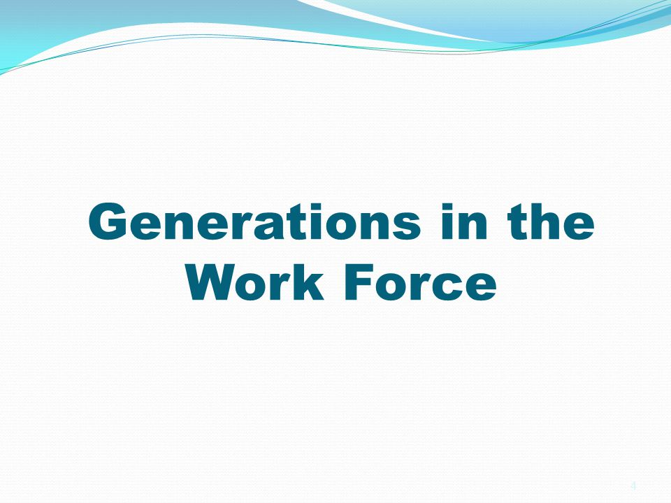Implications for Work Force Planning We now have a four generation work force consisting of veterans, boomers, generation x and New Millennial (Gen Y) These generations have given us a puzzle to solve…four generations trying to work together…sometimes clash and misunderstand each other because of different generational identities 5
