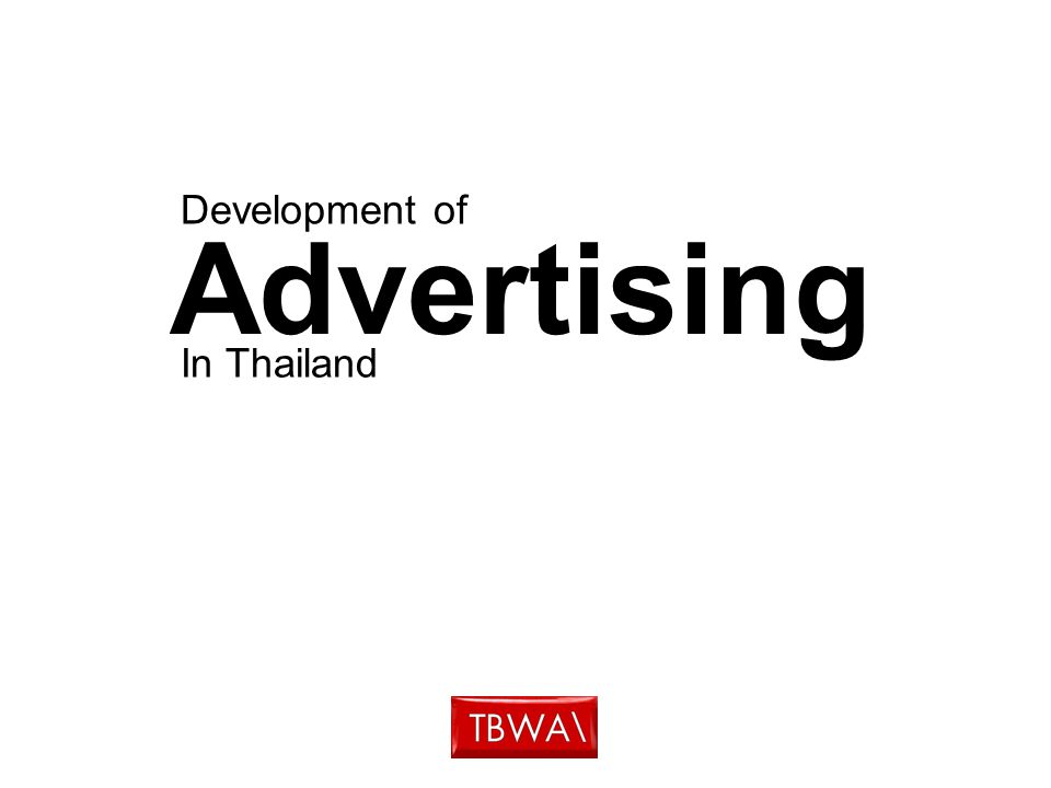 Advertising In Thailand Development of