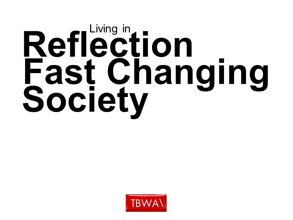 Reflection Living in Fast Changing Society
