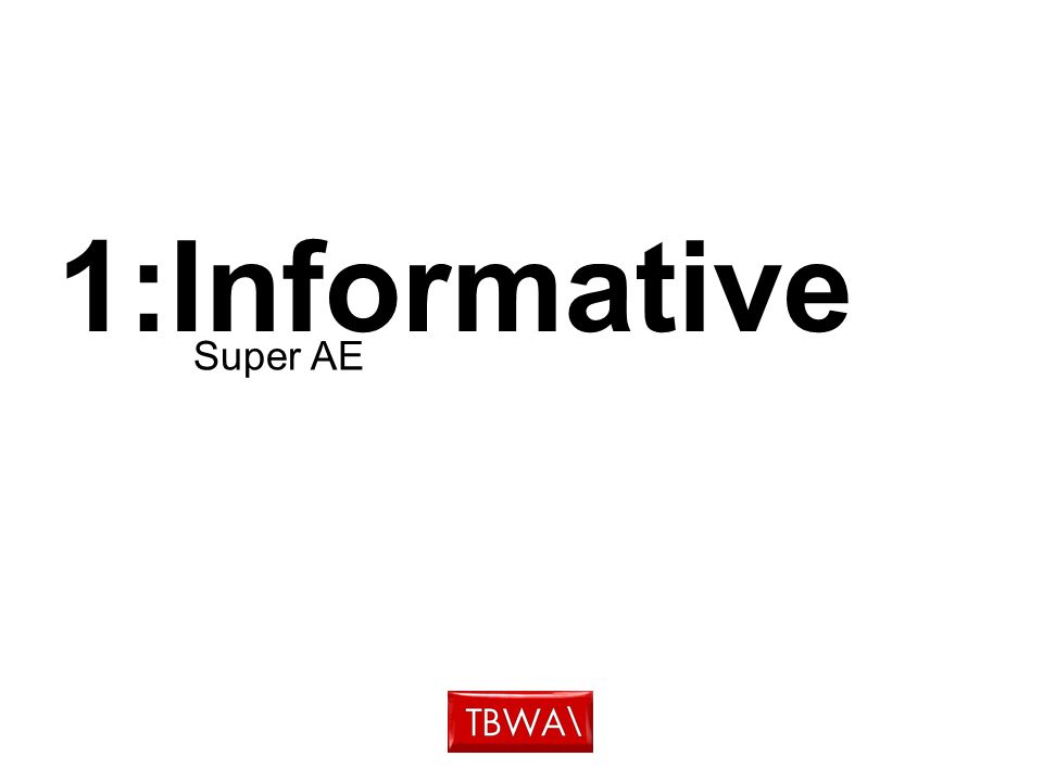 1:Informative Super AE