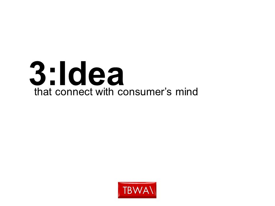 3:Idea that connect with consumer's mind