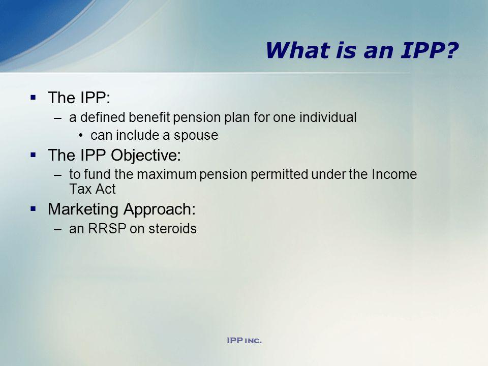 IPP inc. What is an IPP.