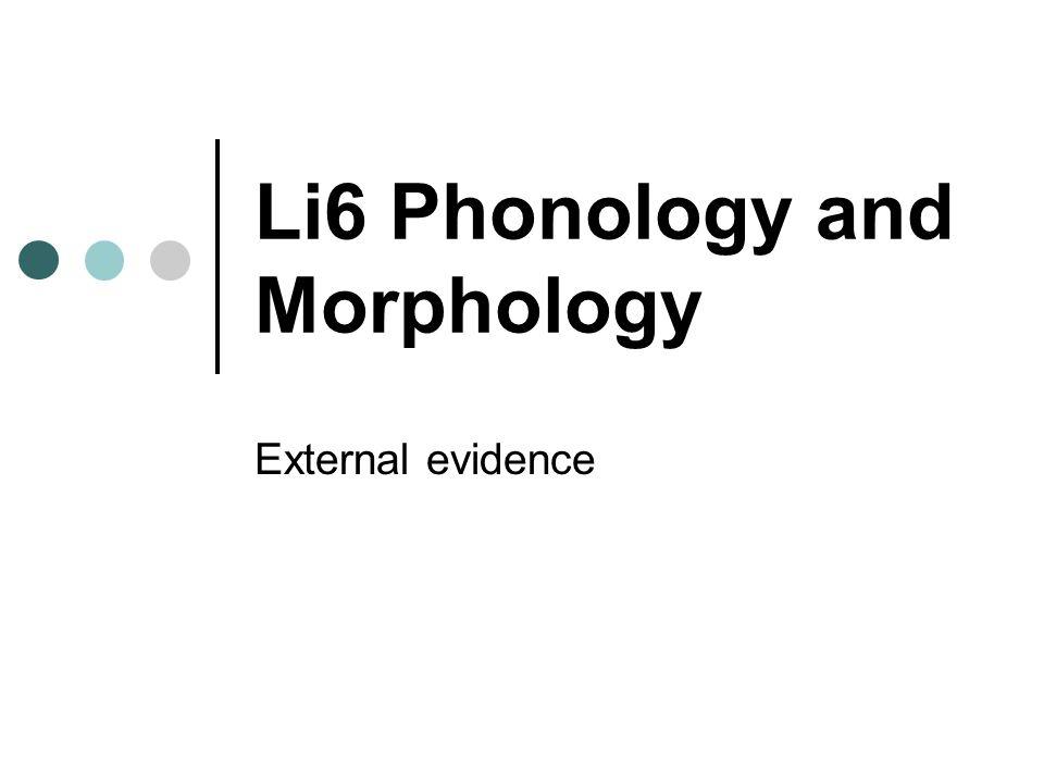 Why external evidence.