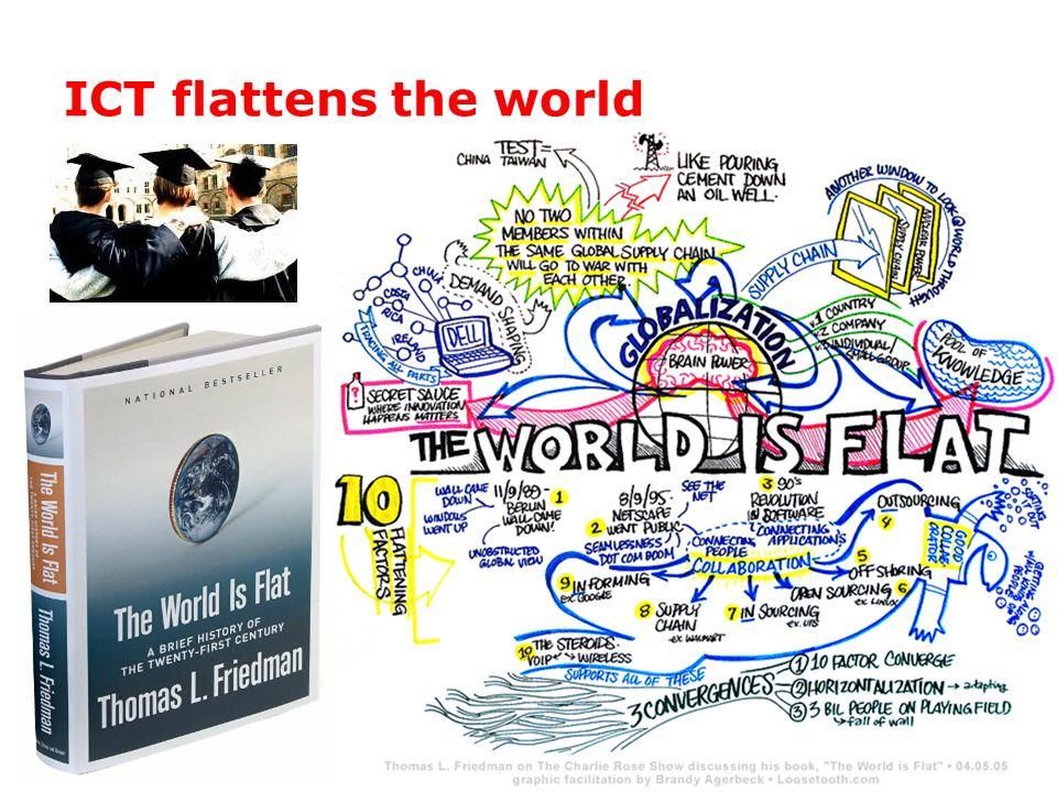 ICT flattens the world