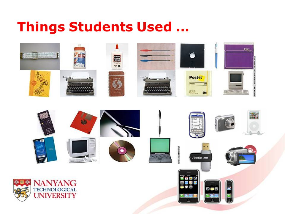Things Students Used …