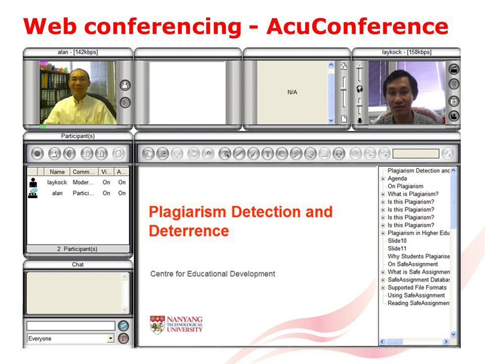 Web conferencing - AcuConference