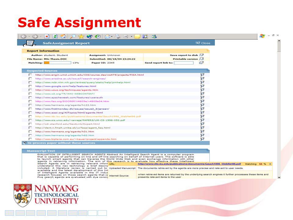 Safe Assignment