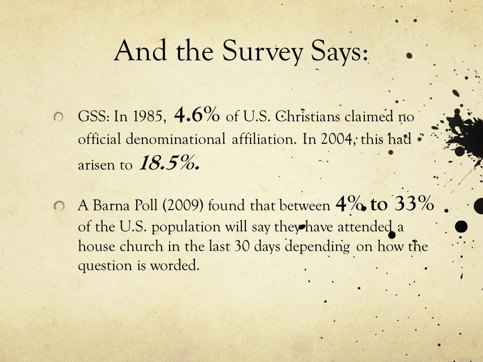 Nationwide: Gallup, 1964: Have you undergone a religious experience of some variety?  20% Yes GSS, 2004: Do you feel God's presence on a daily basis?  60% Yes Baylor, 2008: I felt called by God to do something.  44% Yes I heard the voice of God speaking to me.  20% Yes