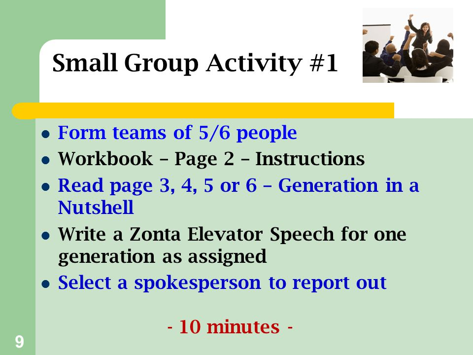 20 Have fun targeting Zonta to a diverse audience!