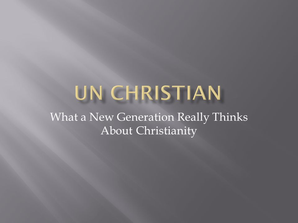 What a New Generation Really Thinks About Christianity