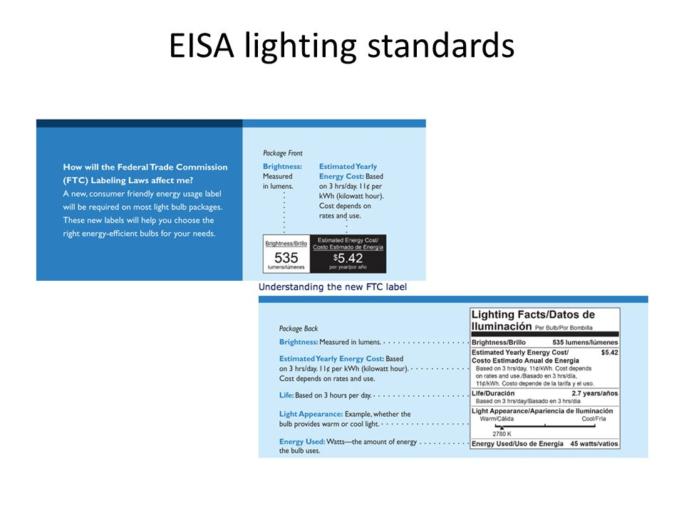 EISA lighting standards